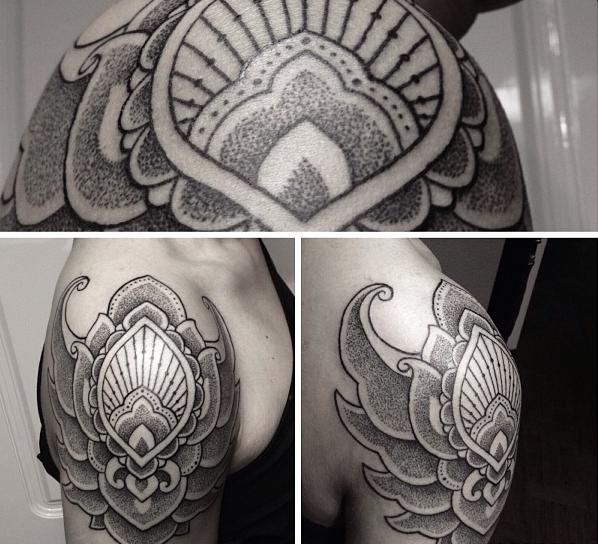 ade itameda!!!!! indonesian tattoo artist pointillisme