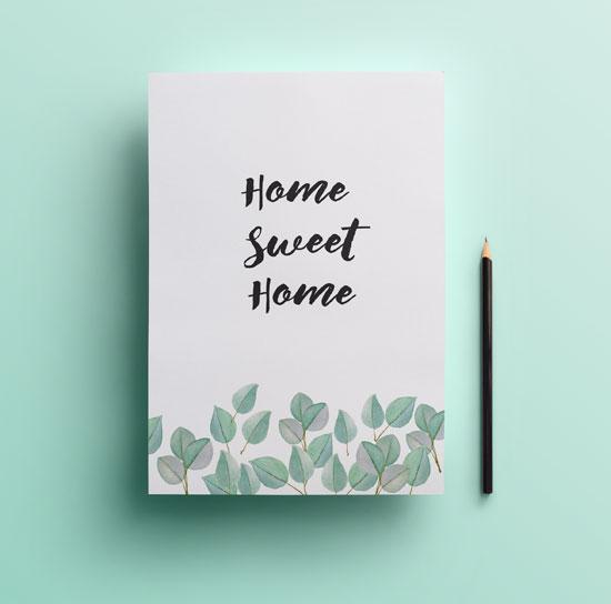Lámina gratuita eucaliptus home sweet home