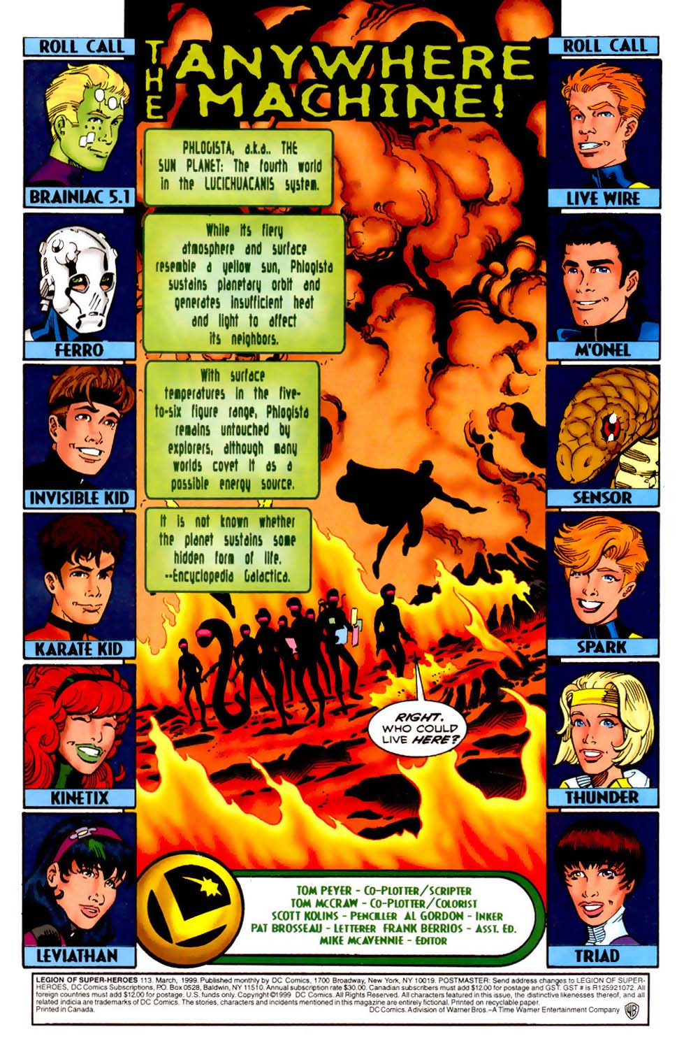 Legion of Super-Heroes (1989) 113 Page 1