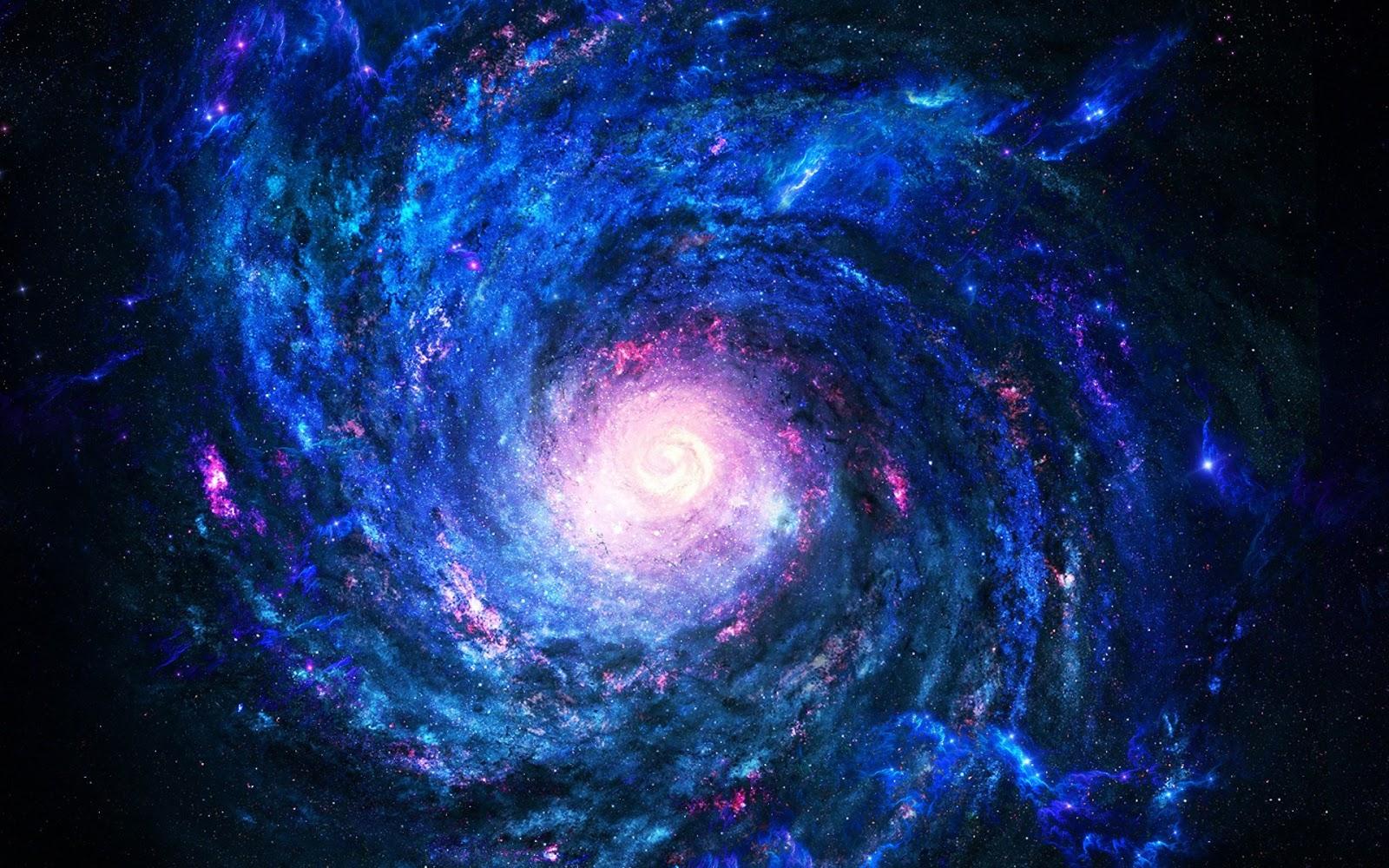 渦巻く銀河の宇宙画像