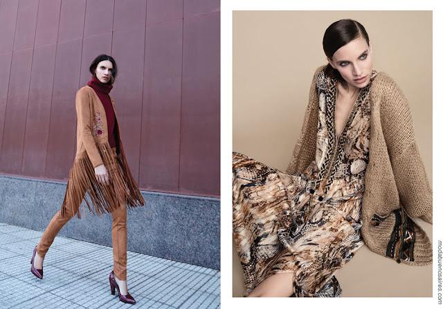 Sacos y vestidos de moda otoño invierno 2018.