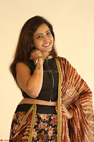 Lasya looks super cute in black choli Saree at Raja Meru Keka Press Meet ~  Exclusive 109.JPG