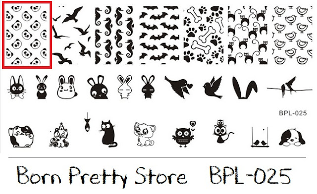 BPL-025 stamping plate plaquinha born pretty store BPS