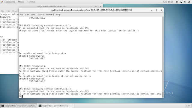 Arduino ,Linux, Oracle database and electronic Help: Zimbra Mail