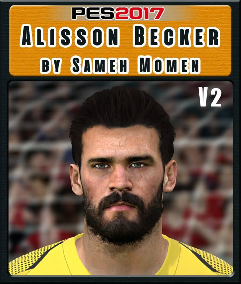 PES 2017 Alisson Becker face v2 by Sameh Momen