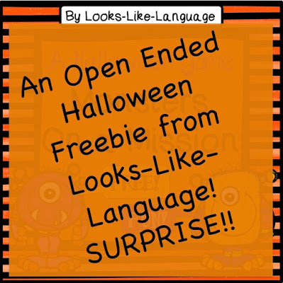 Open Ended Halloween Freebie from Looks Like Language