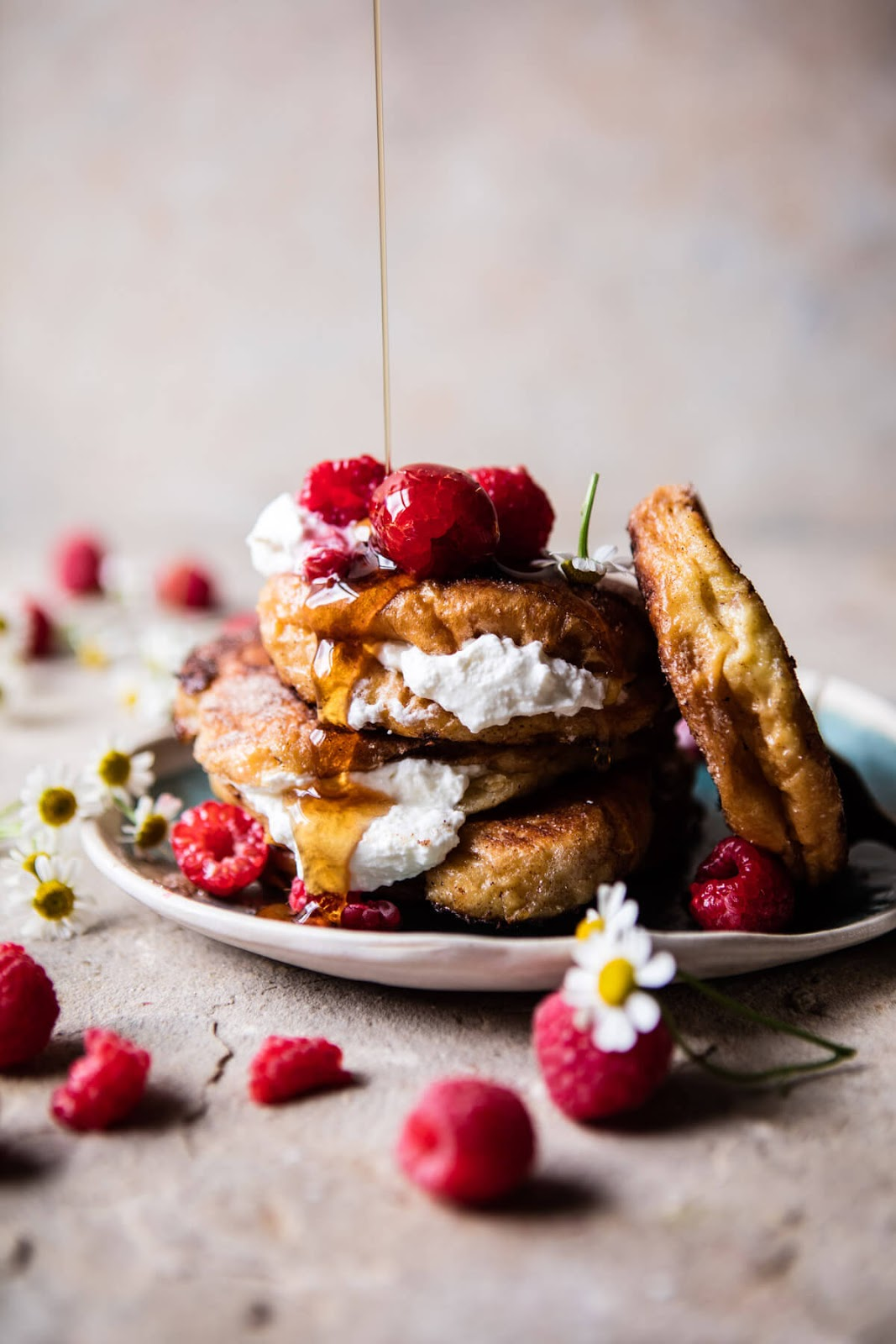 Raspberry Ricotta Croissant French Toast