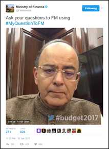 Twitter records over 700K Tweets with Budget2017