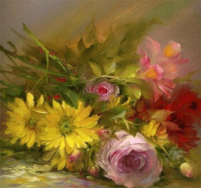 Цветочные картины. Gary Jenkins 3