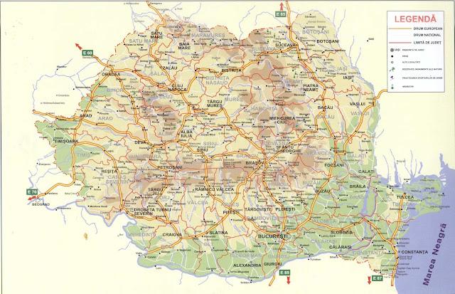 Mapa de Rumanía