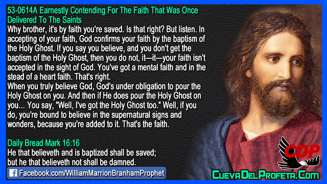 God confirms your faith by the baptism of the Holy Ghost