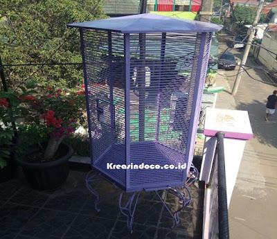 Pesanan Kandang Burung Kacer Bahan Besi Bpk GunantoTangerang Selatan