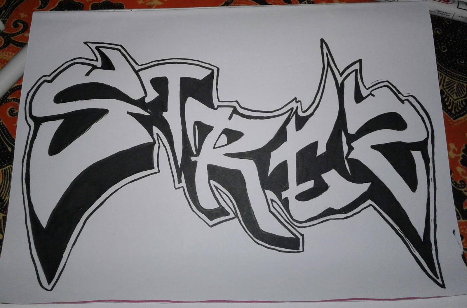 80 Koleksi Gambar Grafiti Simple Pake Pensil Gratis Terbaru