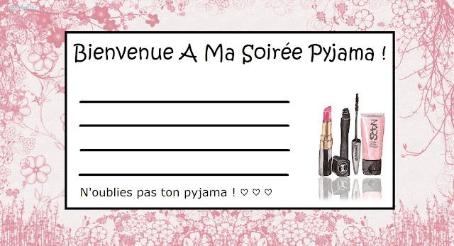 Invitation Soirée Pyjama #1