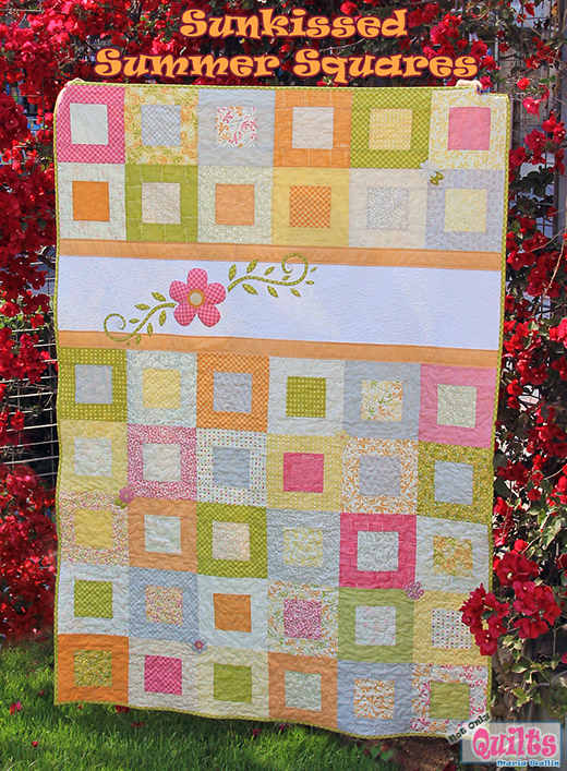 Summer Squares Quilt Free Tutorial designed by Maria Wallin for Modabakeshop