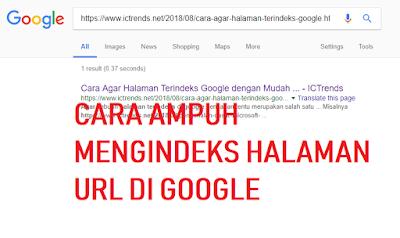 thumbnail Cara ampuh indeks halaman di google