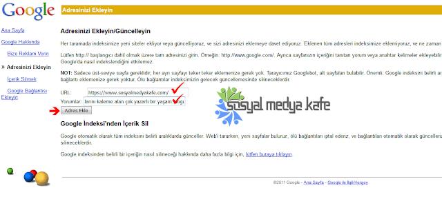 Blogger Google URL Gönderme Nasıl Yapılır