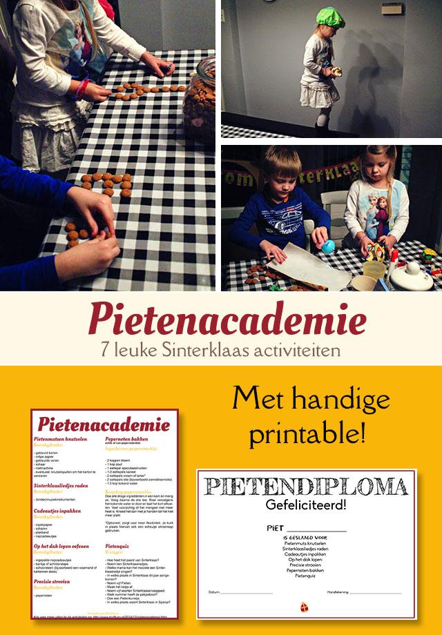 Pietenacademie - 7 leuke Sinterklaas activiteiten