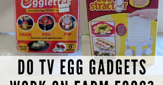Do TV egg products work for farm eggs?