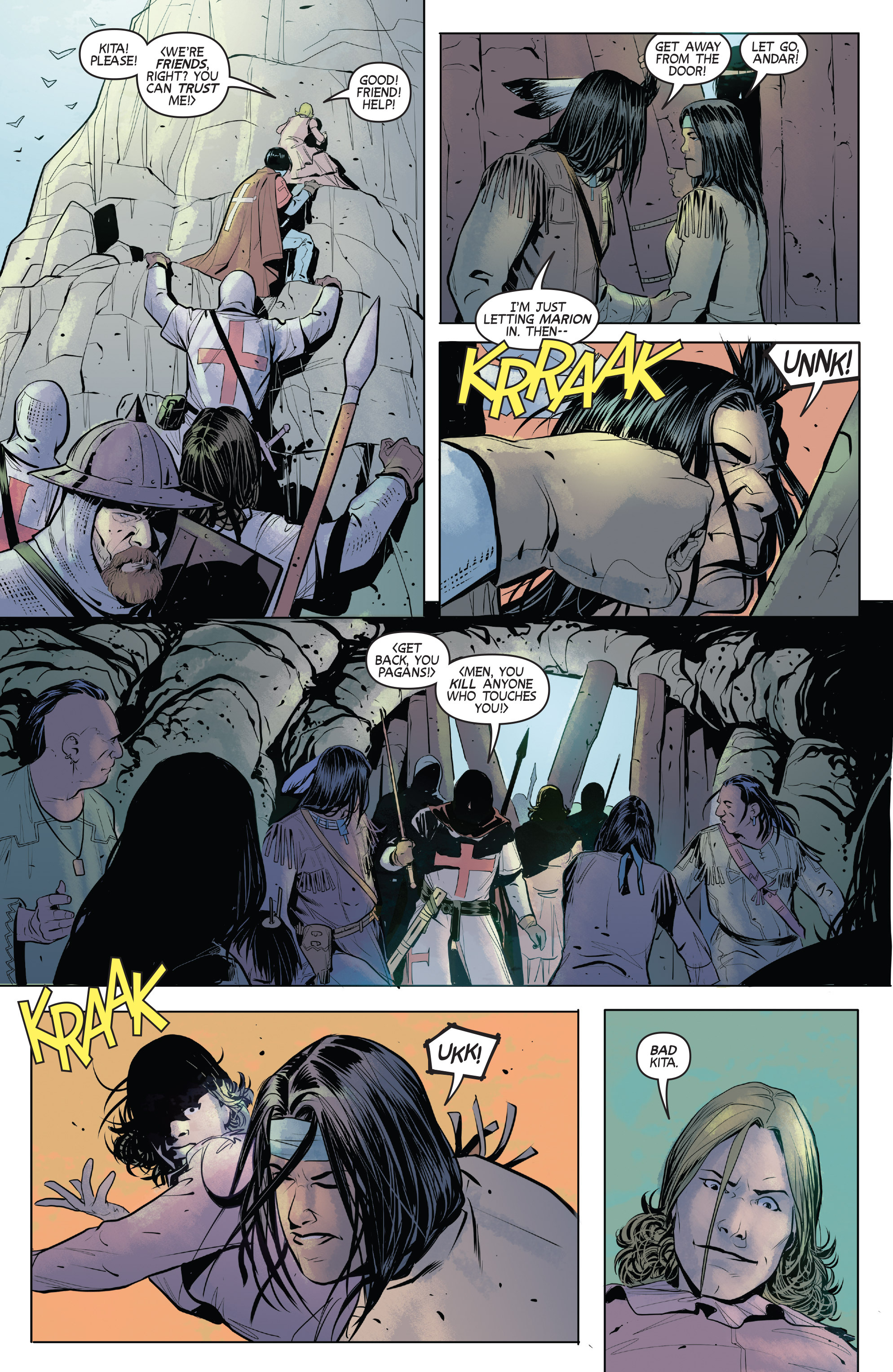 Read online Turok: Dinosaur Hunter (2014) comic -  Issue # _TPB 1 - 81