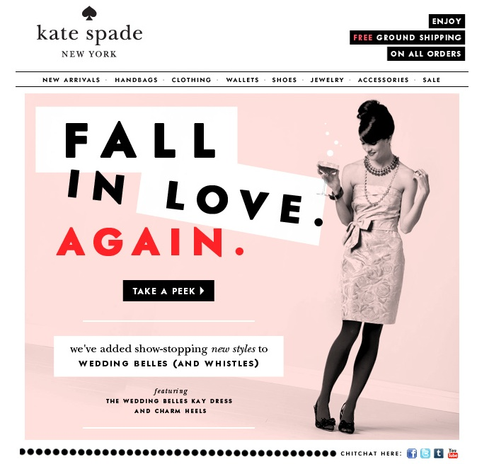 Well-known Kate Spade Mood Board #5 ~ The Rebellious Brides GJ86