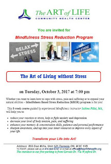 8-week Mindfulness-Based Stress Reduction Program at The Art of Life