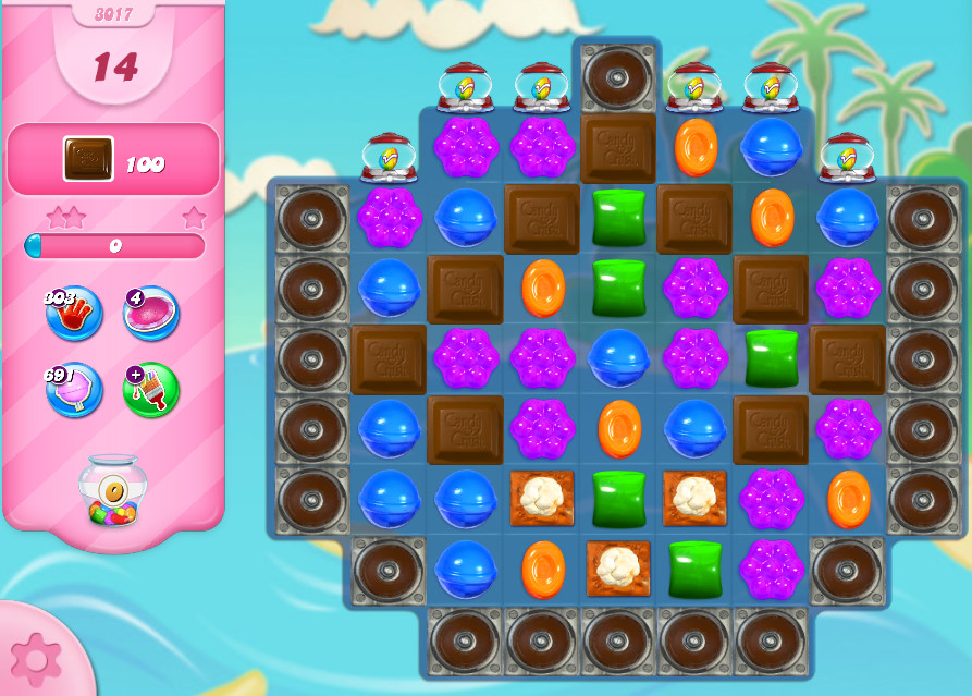 Candy Crush Saga level 3017