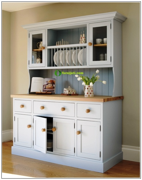 gambar lemari dapur kayu jati