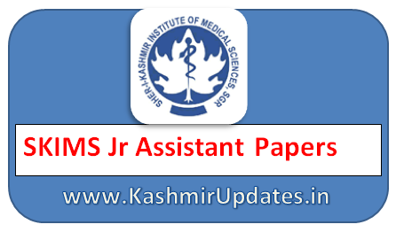 SKIMS Jr Assistant  Papers PDF Download 2019 | Junior Assistant Paper Skims  2019