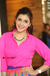 Actress Mannar Chopra in Pink Top and Blue Skirt at Rogue movie Interview  0161.JPG