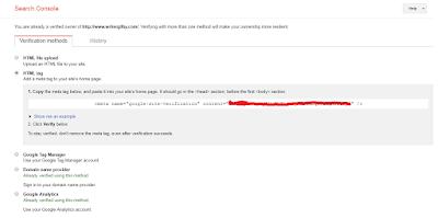 Cara Verifikasi URL di Webmasters