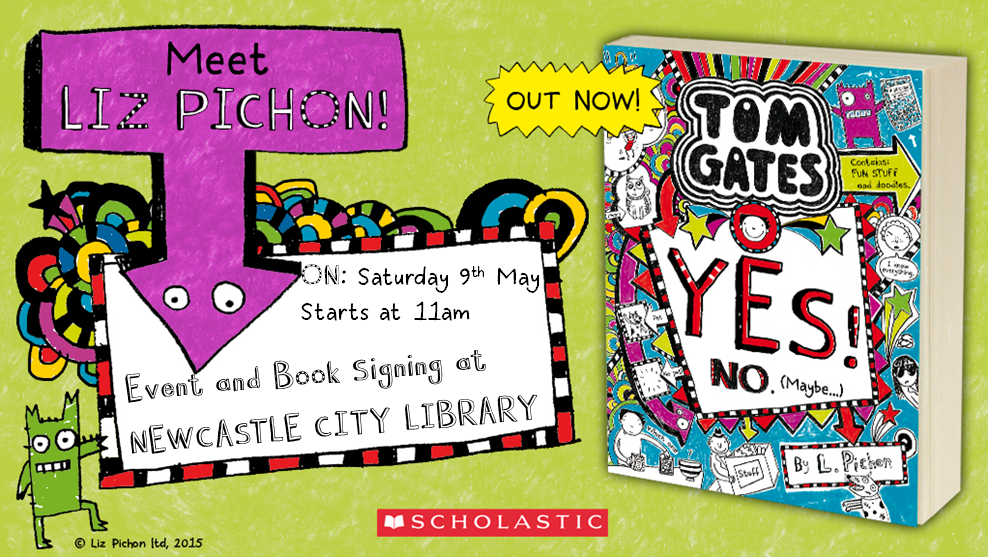 Liz Pichon and Tom Gates book signing in Newcastle