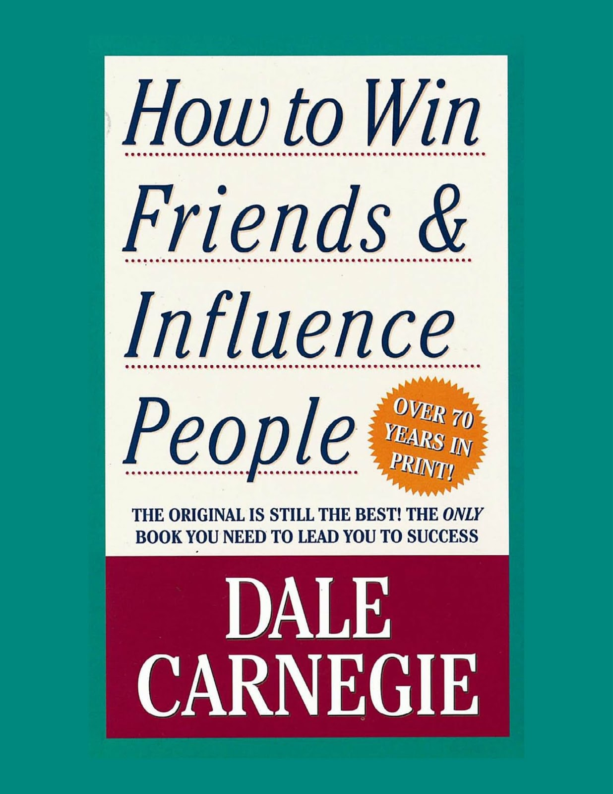 How To Win Friends Influence People Book By Dale Carnegie Free