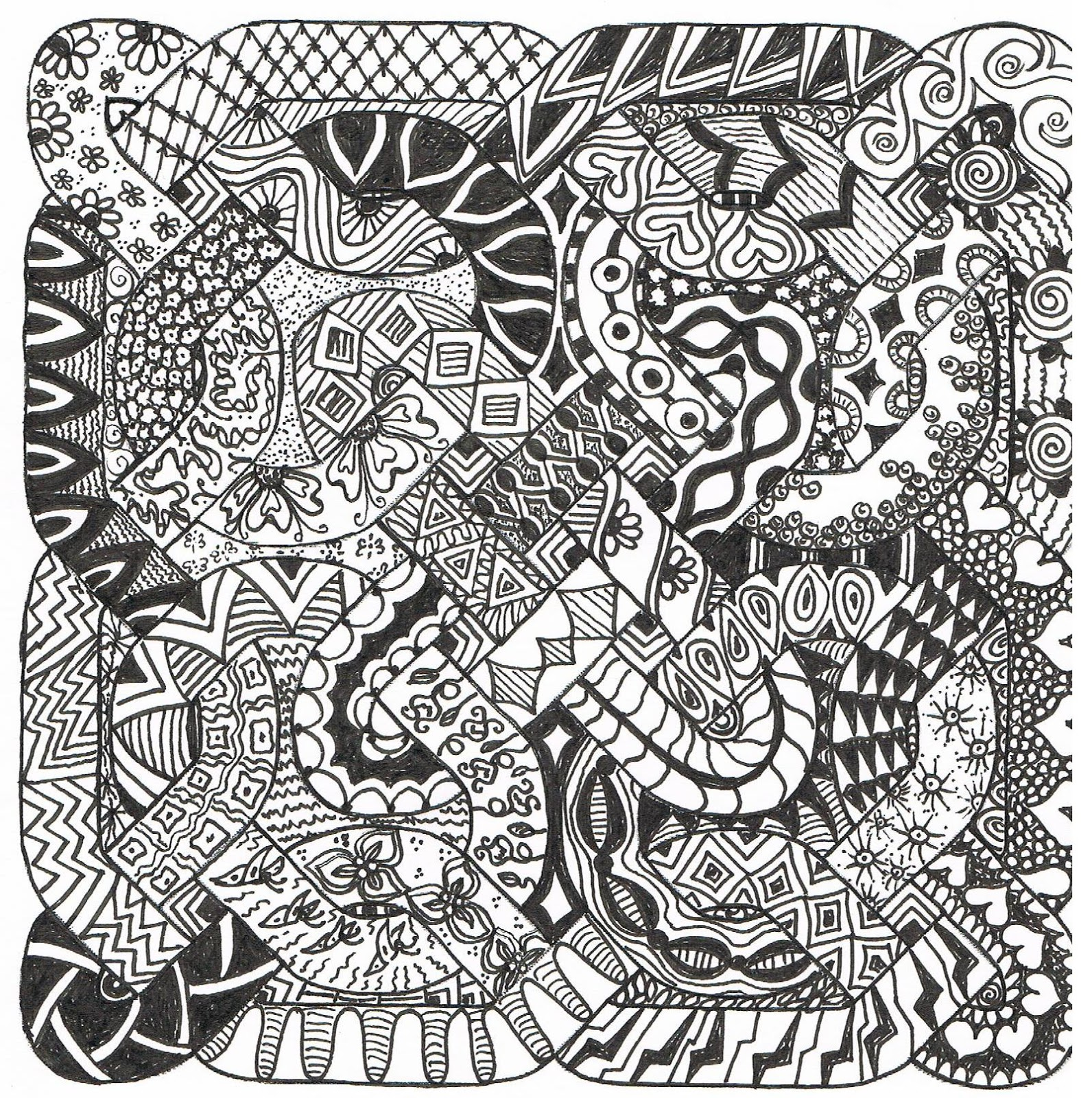Patterns And White Black Draw