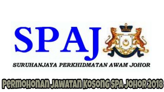 Permohonan Jawatan Kosong SPA Johor 2018