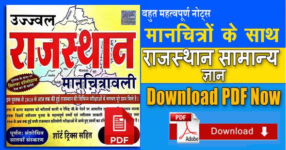 Rajasthan GK Notes in Hindi