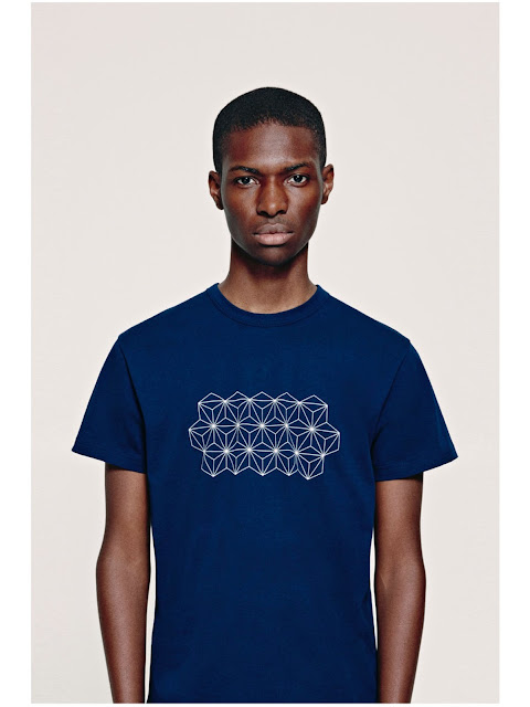Jijibaba navy graphic t-shirt