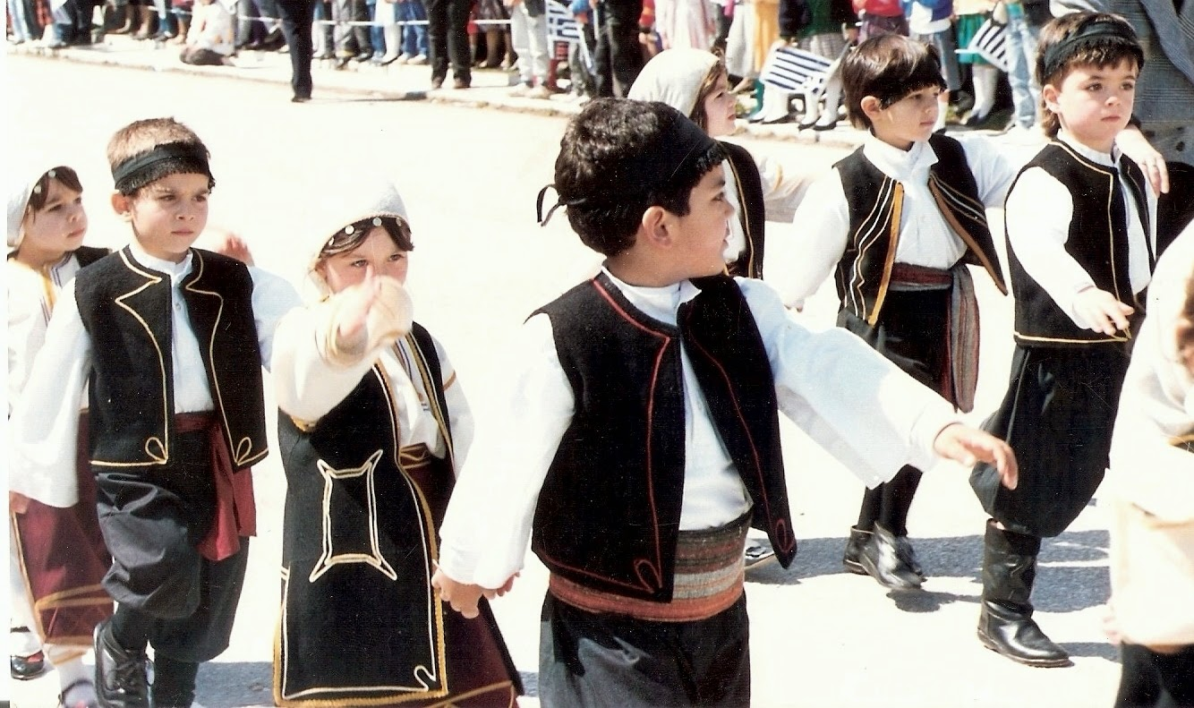 Yiannis.traditional cretan dress.  March 25 1986