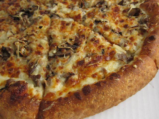 Review papa john 39 s mushroom swiss burger pizza brand - Papa john s pizza garden fresh pizza ...
