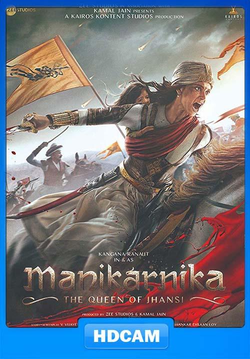 Manikarnika 2019 Hindi New PreDVDRip x264 | 480p 300MB | 100MB HEVC