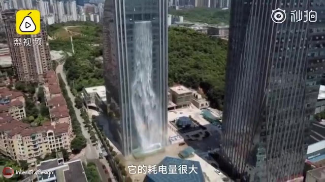 Artificial Waterfall Pours Out Of Guiyang Skyscraper 5