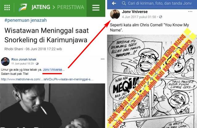 Dahsyatnya Mubahalah, Akun Penghina Imam Besar Umat Islam, Tewas Tenggelam di Karimun Jawa