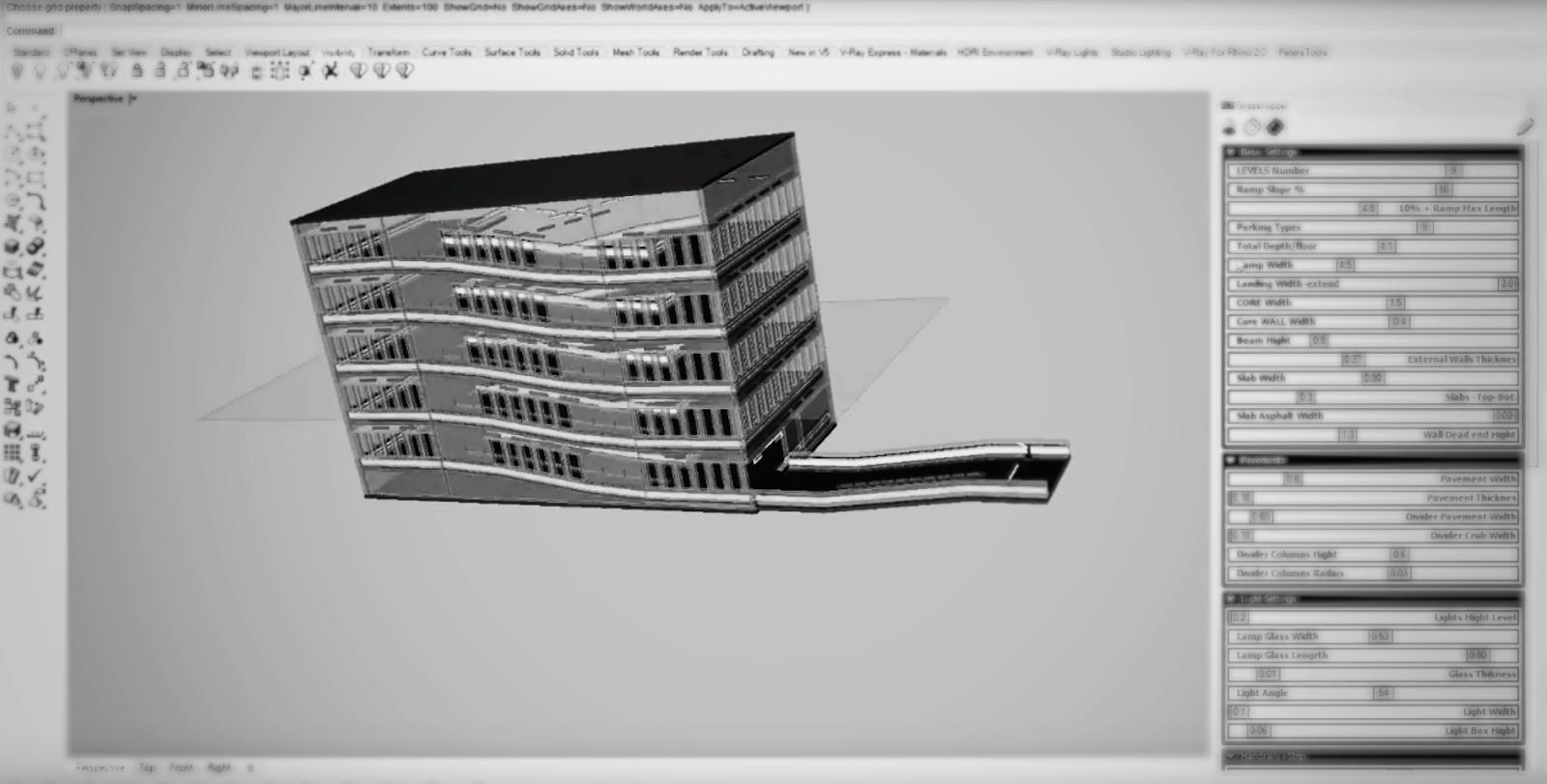 Parametric Parking Ramp Video | Parabolic Design
