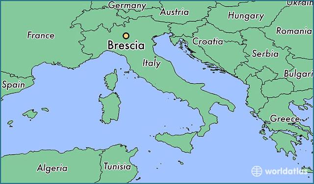 Location of Brescia
