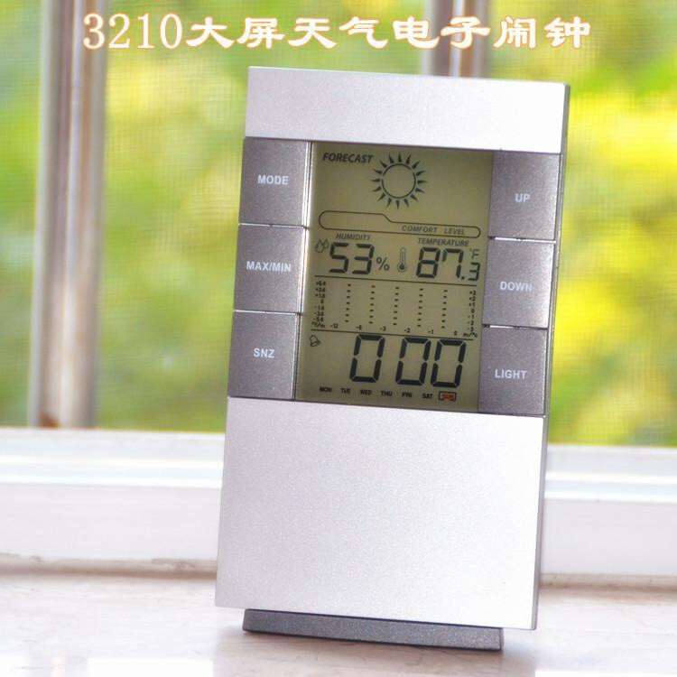 49k - Đồng hồ LCD kiêm đồng hồ đo nhiệt độ và độ ẩm giá sỉ và lẻ rẻ nhất