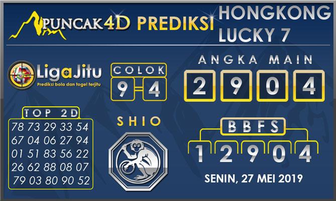 PREDIKSI TOGEL HONGKONG LUCKY7 PUNCAK4D 27 MEI 2019