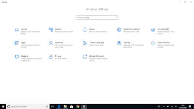 Windows Settings Windows 10 Version 1809