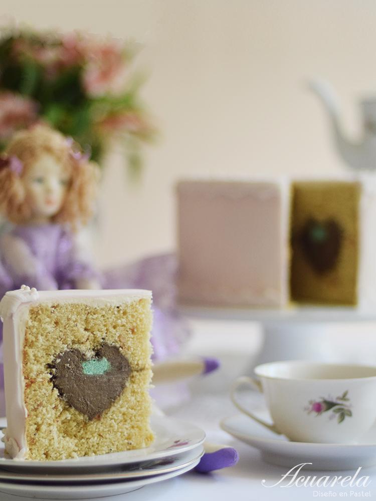 Un cuento hecho pastel: El soldadito de plomo (Pastel sorpresa de corazón)