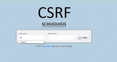 Exploit CMS Schoolhos 2017 | CSRF Vulnerability