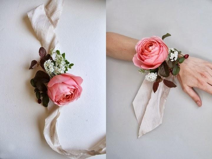 Super verdivogliewedding: bracciale di fiori EP69